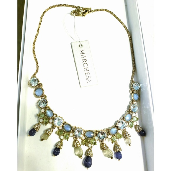 6f8617884 Marchesa blue green regal affair necklace